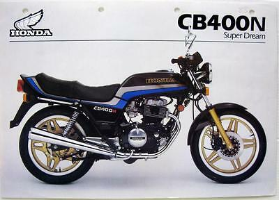 HONDA CB400N Super Dream - Motorcycle Sales Brochure - 1983
