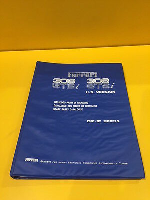 Ferrari 308 GTBi / 308 GTSi US Version - Spare Parts Catalogue #222/81