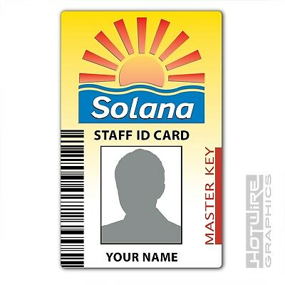 PERSONALISED Printed Novelty ID- BENIDORM TV Series Solana Hotel Pass Card