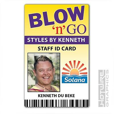 Plastic ID Card (TV Series Prop) - BENIDORM Blow n Go Salon - Kenneth du Beck