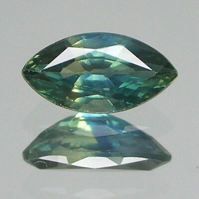 0.49ct Genuine BLUE GREEN Sapphire MARQUISE 1 Piece Loose Stone
