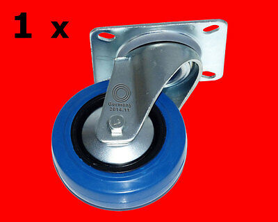 1 x 100mm Blue Wheels Schwerlast Rollen Lenkrollen ISO 9001 Germany BW Lenk