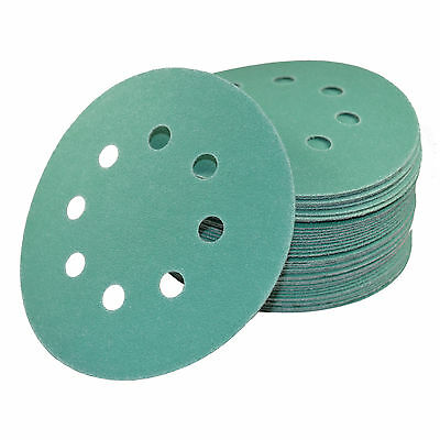 """50x 5"""" 8-Hole 150-Grit Dustless Hook and Loop Sanding Discs for Porter-Cable 382"""