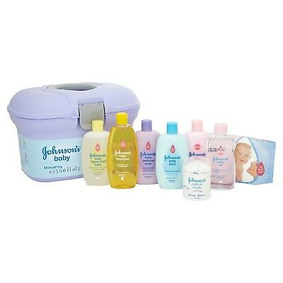 Newborn Baby Skin Care Essentials Bath Ideal Gift Set by Johnsons Eight Products
