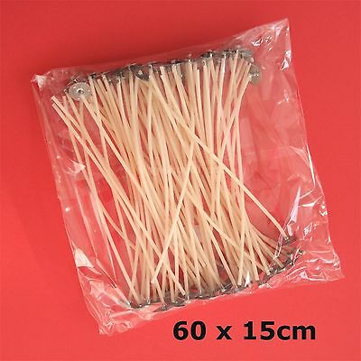 60 Pcs Pre Waxed Wicks with Tab 150 mm/ 15cm long for Candle Making Top Quality