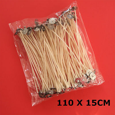 110 Pcs Pre Waxed Wicks with Tab 150 mm/ 15cm long for Candle Making Top Quality