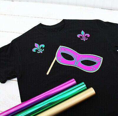 "Metallic & Foil Heat Transfer Vinyl By The Yard 20"" Wide Easy Weed  - Threadart"