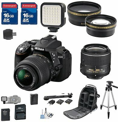 Nikon D5300 DX Digital SLR Camera with 18-55mm VR II + 2pc 16GB Memory Cards