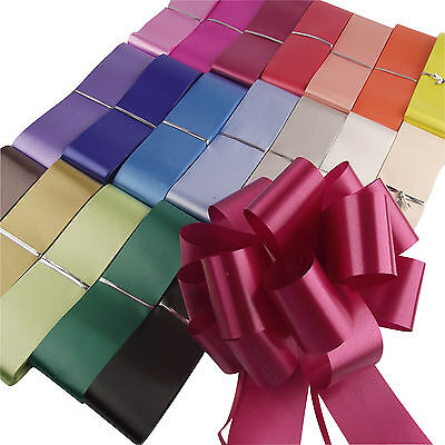 40x Large Pull Bows WHOLESALE Assorted Colours! 50mm Florist Pullbows Bulk Lot