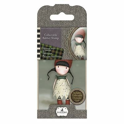 Gorjuss Collectable Rubber Stamp-Santoro-No 19 Holly for crafts