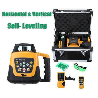 Automatic Self-leveling Rotary Laser Level Green beam 500m range &remote control