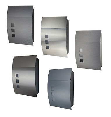 Designer Wall Letter Box Letterbox Stainless steel 444 many with Showcase