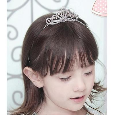 Kids Flower Girl Tiara Rhinestone Wedding Princess Prom Crown Headband