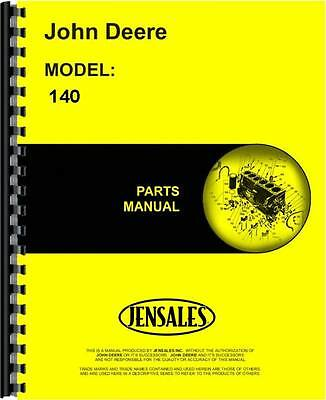 John Deere 140 Lawn & Garden Tractor Parts Manual (SN 0 - 30,000) JD-P-PC1078