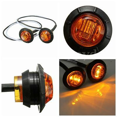 2 pcs 12V amber LED Side Marker Light Indicator Lamp Truck Trailer Caravan Lorry
