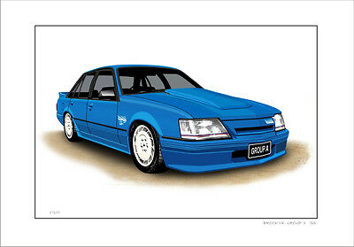 Brock Vk  Group  3  Ss  Commodore   Limited Edition Car Print Automotive Artwork
