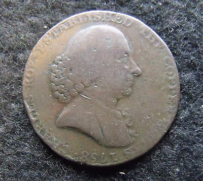 1790 Macclesfield Halfpenny Trade Token Early Milled British coin