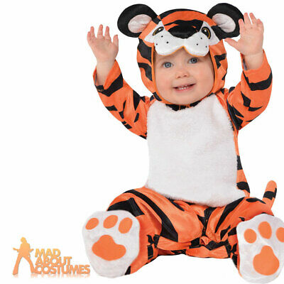 Baby Tiny Tiger Costume Babies Toddler Animal Book Week Day Fancy Dress Outfit