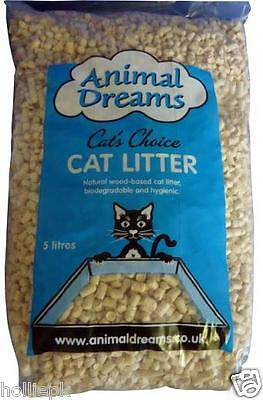 Animal Dreams Wood Based Cat Kitten Litter Also Substrate For Parrots 5 Lts