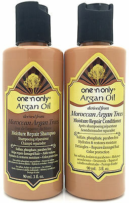 One'n Only Argan Oil Moisture Repair Shampoo & Conditioner Pair Travel Size 3 Oz