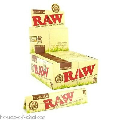 Raw Organic Hemp King Size Slim Rolling Papers Natural Unrefined Skins UK SELLER