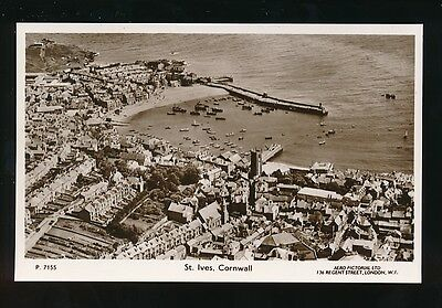 Cornwall ST IVES Harbour c1930/40s? aerial RP PPC by Aero Pictorial