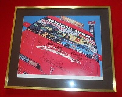 Rare Wallace Petty Waltrip Signed NASCAR Limited Edition Pontiac Sam Bass Print