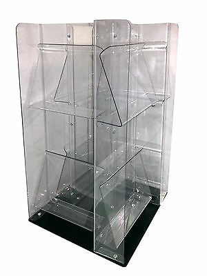 Display  2-tier Counter Spinner 8 Pockets holds 96 magazines Plexi