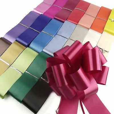 CHEAPEST ON EBAY! 50mm PP Pull Bows and Ribbon! Florist Pullbows Large Wholesale