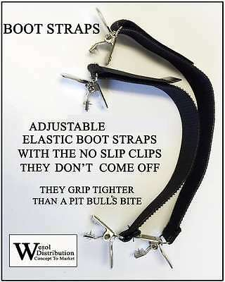 Boot Straps Hold Pants Down Motorcycle Outside or Inside Boots