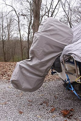New Grey Vortex Complete Outboard Motor Cover 'hoodie' 100-150 Hp