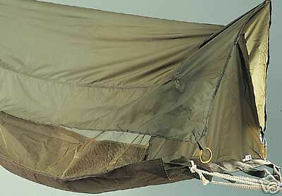 NEW Olive Drab Green Jungle Hammock Elevated Shelter Mosquito Bug Netting Tent