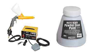 10-30 PSI 120 Volt Powder Coating System Auto Home Shop & Free Black Paint Color