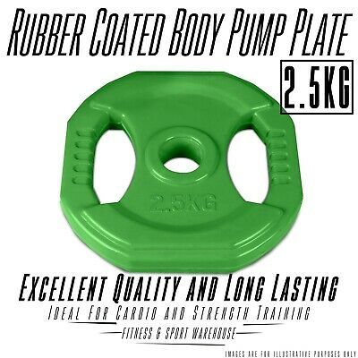 NEW Double Grip Pair of 2.5KG Body Bump Weight Plate Fitness Gym Exercise Gear