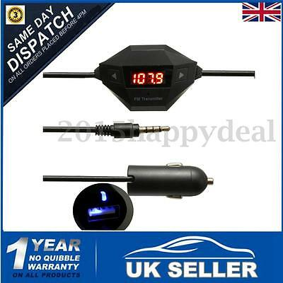 Car Wireless Audio Music MP3 Player FM Transmitter USB Handsfree WITH Charger UK