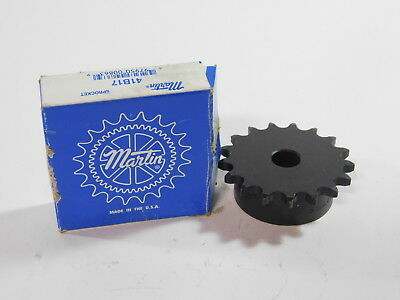Martin 41B17 1/2″ Pitch, 3/4″ Bore Sprocket - NEW Surplus!