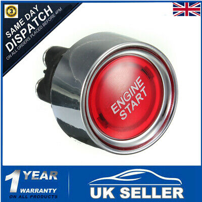 Universal Car Auto Red Engine Ignition Button Starter Push Start Power Switch Uk