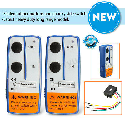 Recovery Wireless Winch Remote Control Twin Handset Atv Truck 12V 12 Volt - Uk