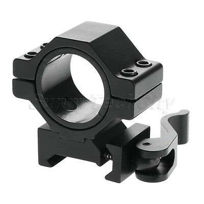 "30mm/25.4mm 1"" Quick Release Scope Mount Ring Adapter for 20mm Picatinny Weaver"