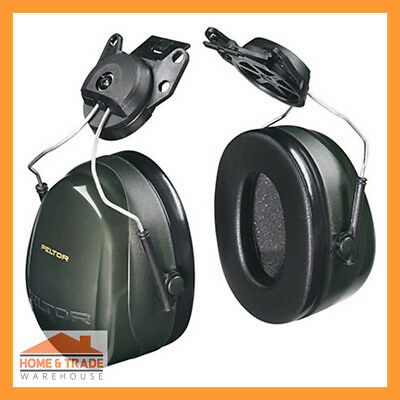 3M Pelter Deluxe Series H7P3G 290 Helmet Attached Earmuffs Hearing PPE