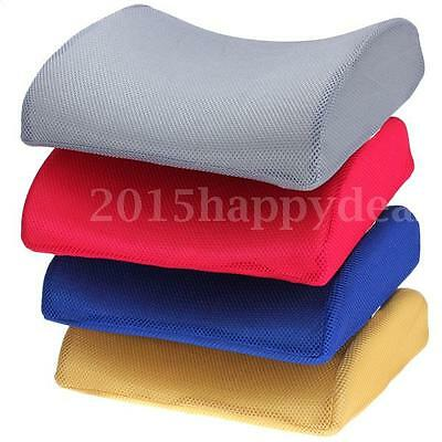 Memory Foam Seat Cushion Lumbar Back Support Car Office Chair Pillow Pain Relief