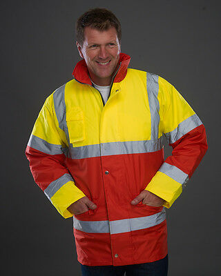 1 x Yoko Hi-Vis Jacket in Yellow/Red- Security, First Responder, Ambulance, Fire