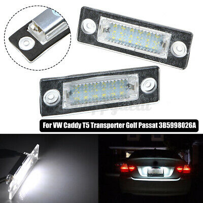 2pc LED License Number Plate Light Lamp For VW Touran Golf Passat Jetta Caddy T5