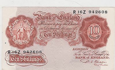 B266 Beale 1950 Ten Shillings R16Z Banknote In Near Mint Condition