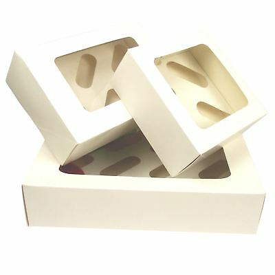 White Cupcake Boxes with Window! Wholesale Value Price Promise! Top Quality!