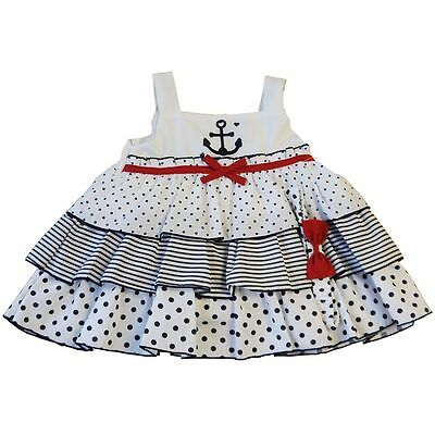 BABYPREM Baby Girls Clothes NAUTICAL Navy Dress Knickers Headband Set Outfit