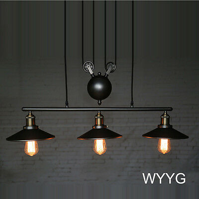 Contemporary Vintage Industrial Chandelier Iron UP & DOWN Ceiling Pendant Light