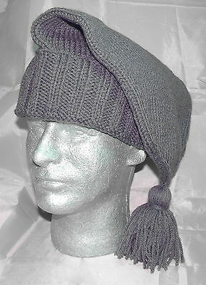 Handmade Knitted Voyager Hat - Grey (French-Mountain Man) **NEW**