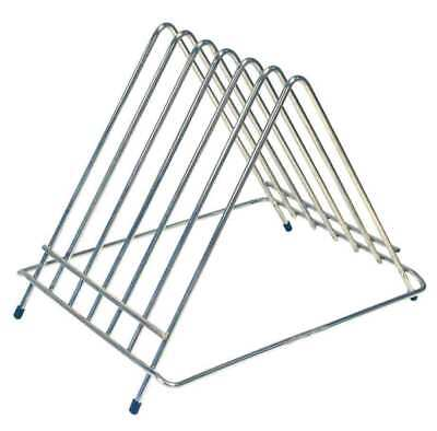 Chopping Board Rack Catering Heavy Duty Storage Stand 6 Slot Stainless Steel