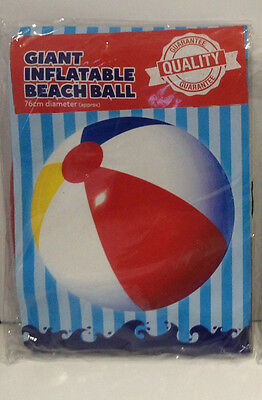 Childrens Large Colourful Inflatable Beach Ball 76 cm approx beach fun toys